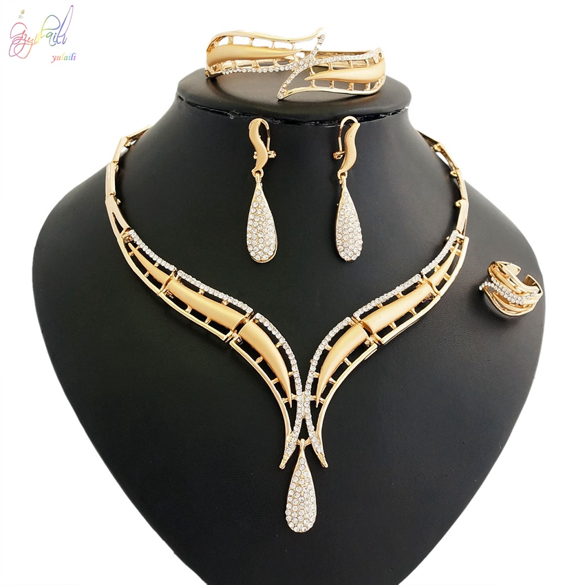 Couples Jewelry Womens Necklaces Gold Costume Jewelry Necklace Bridal Ring SetsCouples Jewelry Womens Necklaces Gold Costume Jewelry Necklace Bridal Ring Sets