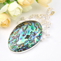 New 2017 Hot Sale Natural Fire Abalone Shell Jewelry Antique Pendants For Women Party/Gift