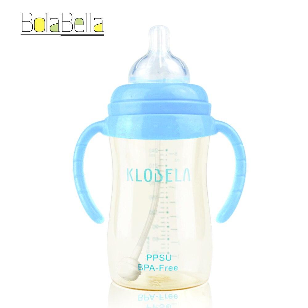 Bolabella PPSU BPA Free Kids Handle Newborn Bottles Botella de - Alimentación