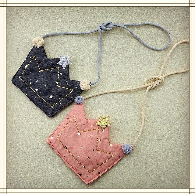Bolso de la moneda de las muchachas de las ovejas Raged bolso de la cartera de los niños corona un hombro bolsa pequeña moneda monedero cambio billetera bolso de los niños bebé cartera
