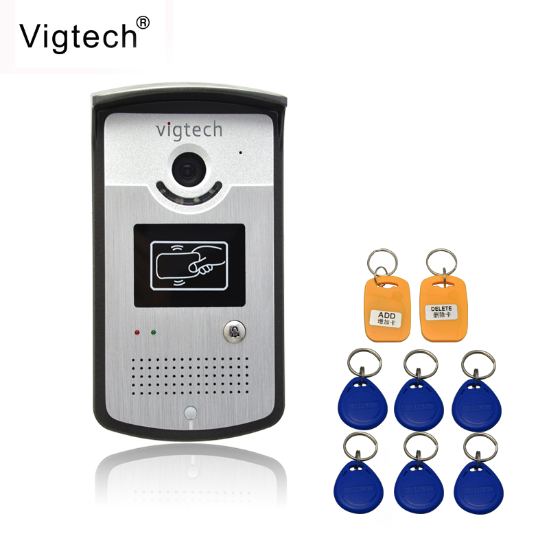 Vigtech Video Door Phone Intercom System Video Door Bell Outdoor Camera /CMOS IR Night Vision For Home/apartment Free Shipping