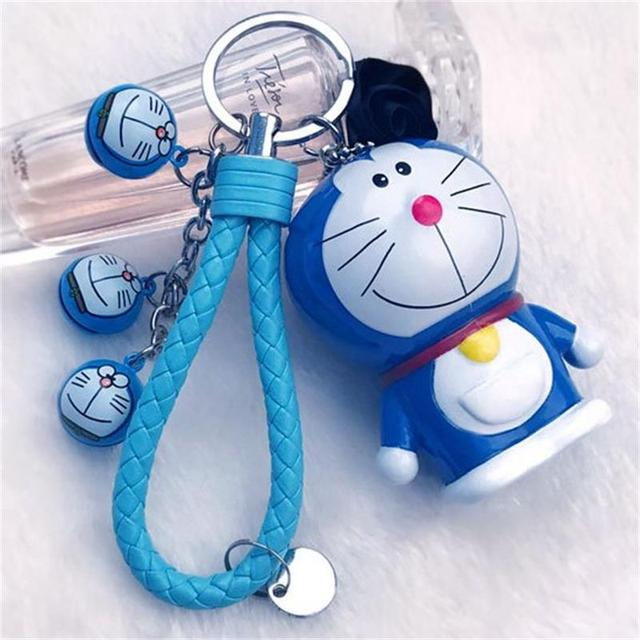 Cartoon Cute Action Toy Figure Anime keychain Pompom small pendant Little  Bell Women Bag Car Key Ring Valentines gifts 1ebc697a91