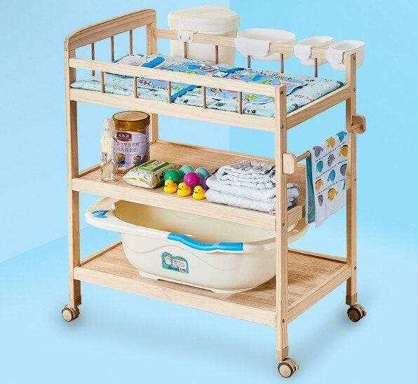 Детские уход пеленки Пеленальный стол кроватки подвижные Детские украшение для праздничного стола touch Твердые деревянный стол для массажа