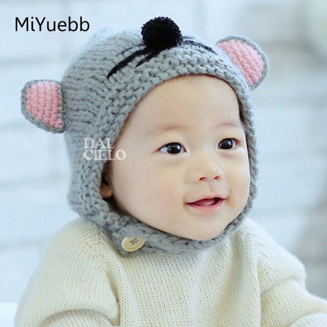 Ben noto Ragazzo di inverno dei bambini appena nati mouse cappelli di  HQ31