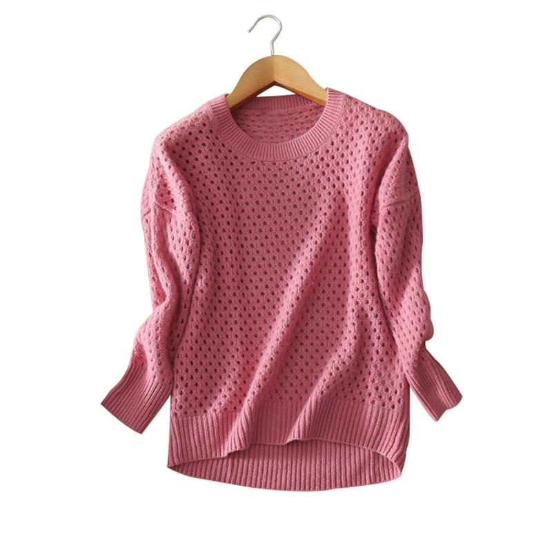 font b Women s b font slim fitting pullovers O neck full sleeve font b