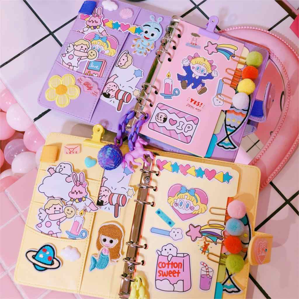 755bdf08b1 2019 INS Sweet Unicorn Planner Book Suit A6 Spiral Notebook Hand-book  Students' Supply Office Stationery Learning Gift for Girl