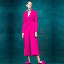 NEW fashion fuchsia 2 piece set women business suits formal office suit