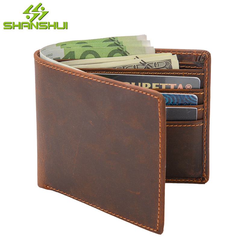 Genuine Leather Men RFID Mini Short Purse Wallet Business Travel Casual Credit Card Holder Male Dollar Euro Cash Slim Wallets frank buytendijk dealing with dilemmas where business analytics fall short