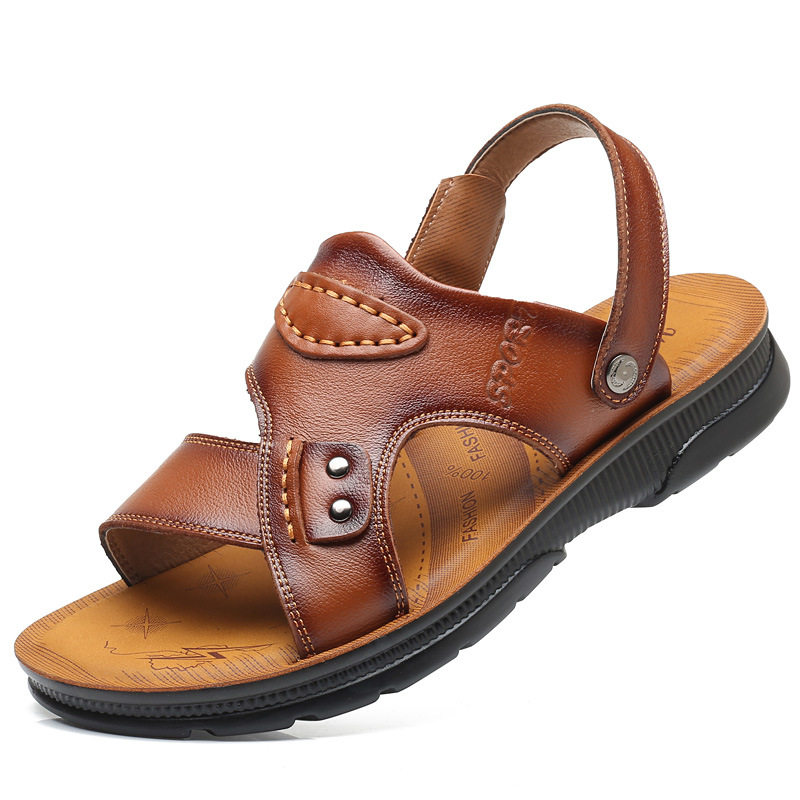 2018 new mens sandals leather casual leather sandals summers men slippers mens sandals genuine leather summer shoes Beach