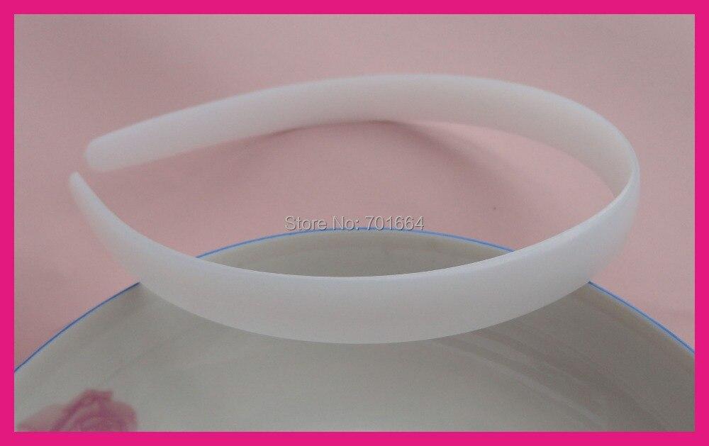 20 шт. 14 мм белый полукруглый лицо простые пластиковые повязки для волос без зубов обручи для волос DIY головные уборы материал экологичный материал