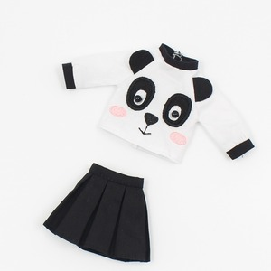 Image 2 - DBS icy blyth doll toy outfit dress suit panda cute skirt shirt gift toy