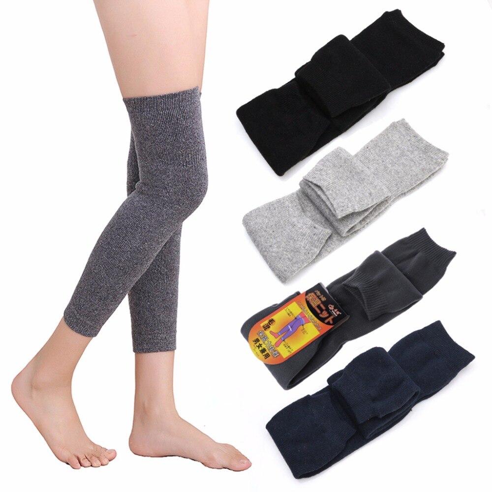 1 Pair Womens Mens Cashmere Wool Knee Warmers Leg Warm Thigh High Socks Legging W15