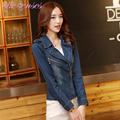 Spring autumn Women Denim Jacket Plus Size Long Sleeve O-Neck Short Jeans Jacket Woman Denim Coat fashion women clothing,HH0036