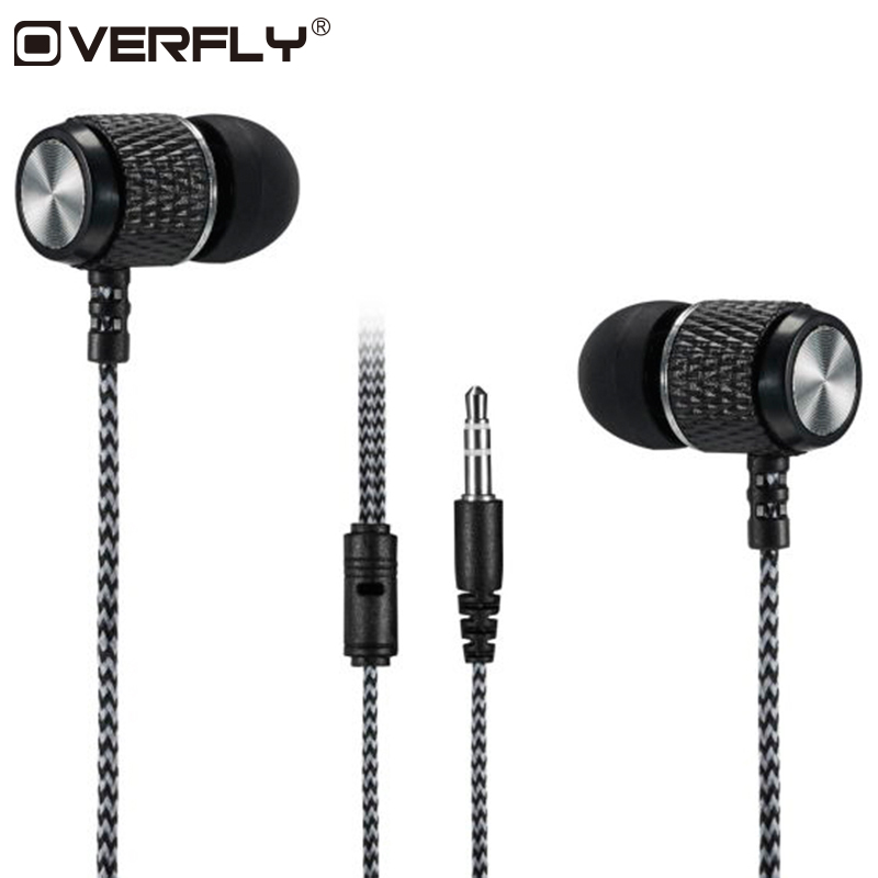 Overfly Bass Earphones Super Clear Metal Headphone Noise Isolating Earbud Headset For iphone Xiaomi MP3 PC Samsung superlux hd669 professional studio standard monitoring headphones auriculares noise isolating game headphone sports earphones