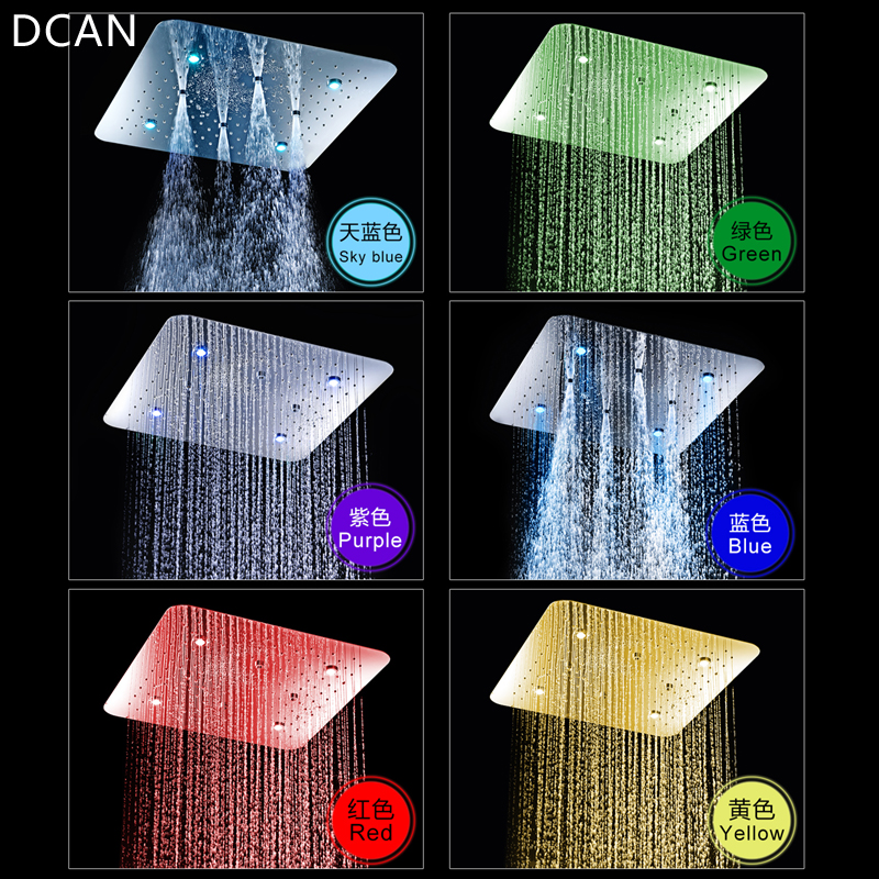 DCAN 20  Multi-Function Shower Concealed LED with Light Ceiling Mounted Shower System In-wall thermostat TapDCAN 20  Multi-Function Shower Concealed LED with Light Ceiling Mounted Shower System In-wall thermostat Tap