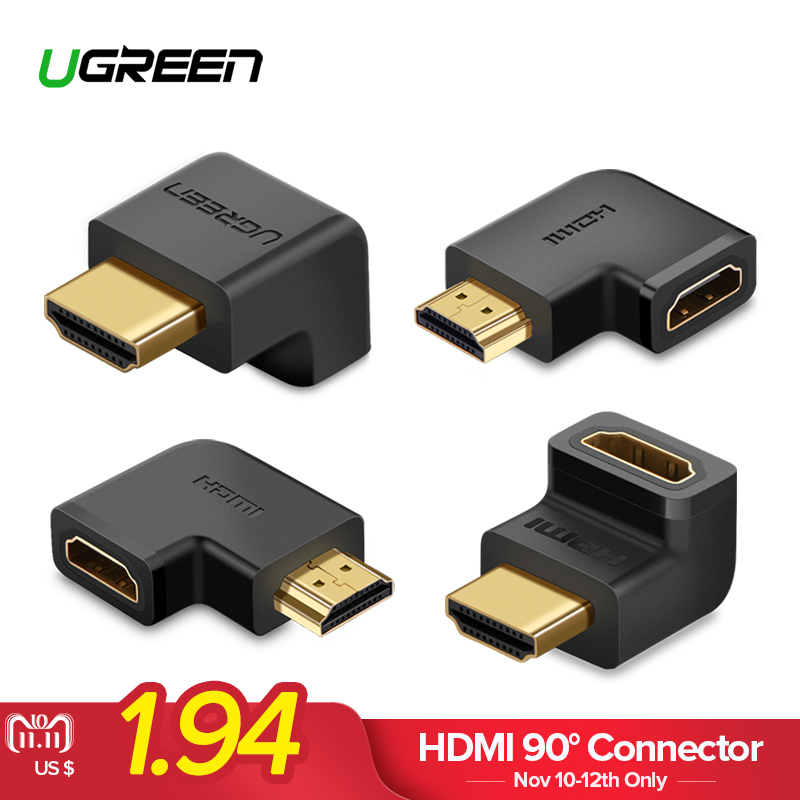 UGREEN HDMI Connector Male to HDMI Female Adapter 4K Converter Extender 270 90 Degree Right Angle for 1080P HDTV PC HDMI Adapter high quality mk xlj d 500 wire cutting scissors cycle cable cutters cable cutters used in jagwire aircraft clamp china