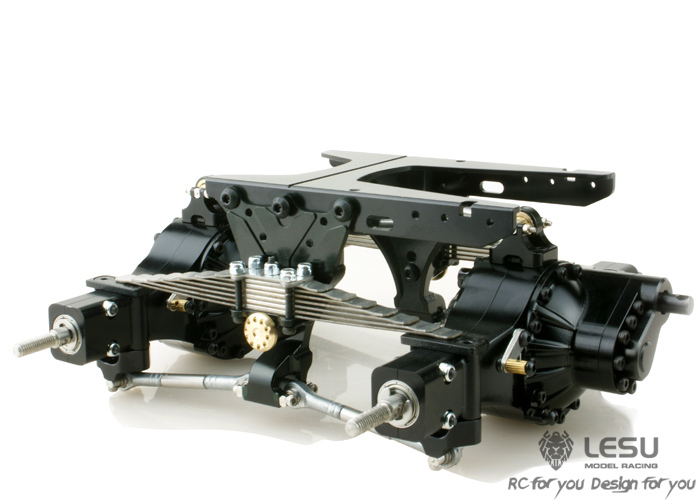 1:14 Zugmaschine/Dump Truck X 8013 New Pattern Simulation Biaxial Suspension Assembly Suspension assembly Tamiya Model jd 57 1 14 truck head latch assembly