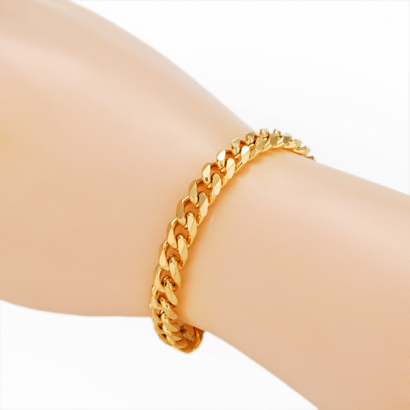 boys from plated tone cuban curb heavy item mens thick in gold round steel wholesale bracelet chain super link bracelets stainless