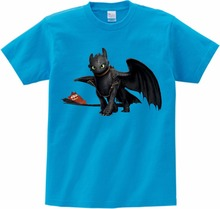 Pocket Toothless T-shirt Cute Tops How To Train Your Dragon Cartoon TShirt Summer Send Children birthday gift MJ
