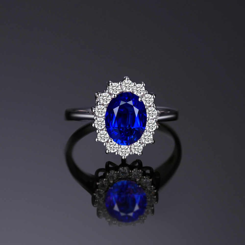 JewPalace Princess Diana สร้าง Sapphire แหวนเงินแท้ 925 แหวนแหวนหมั้นแหวนเงิน 925 เครื่องประดับอัญมณี