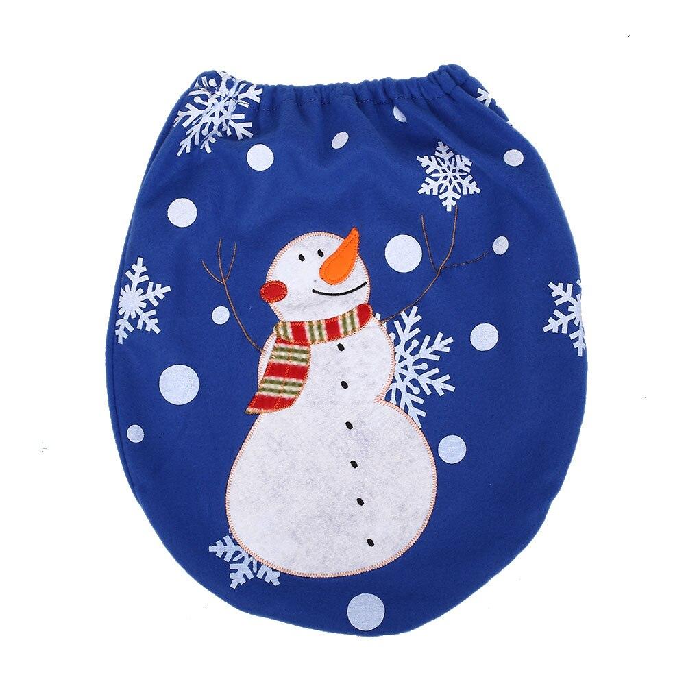 Рождество Аксессуары для дома 2017 3 шт. Туалетная вода бак декоративные Обложка для ног pad Рождество Аксессуары Adornos de Navidad