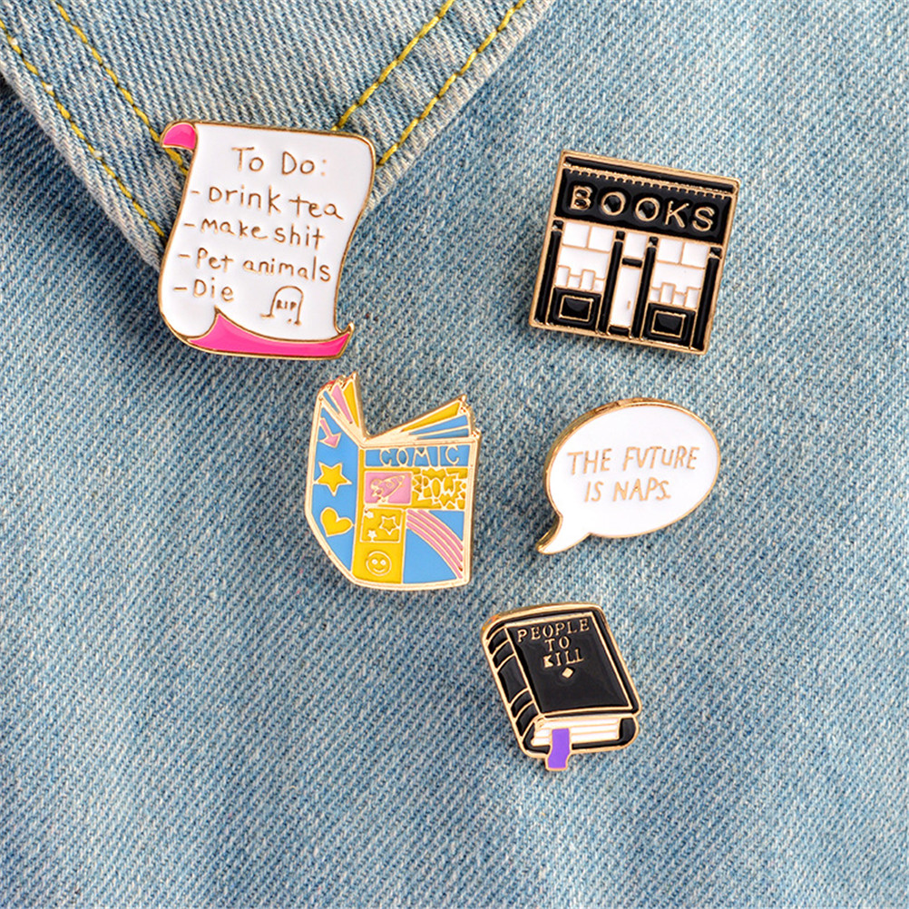 Enamel Pin Buckle Shirt Pins And Brooches For Women Cartoon Lapel Pin Brooch Jewelry Jeans Decoration Christmas Gift