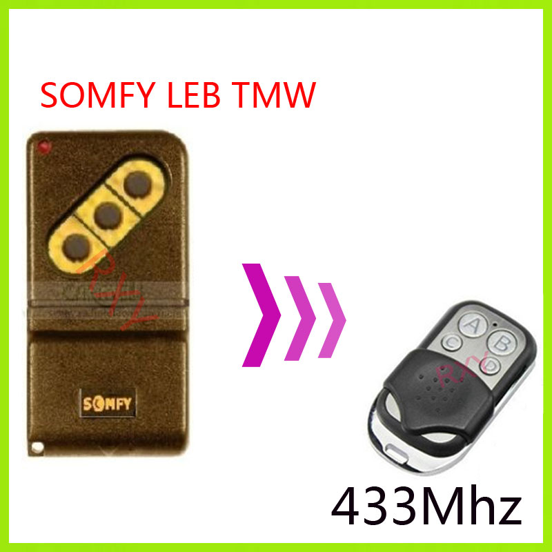 Somfy Leb Tmw4 433mhz Remote Control Replacement In Remote
