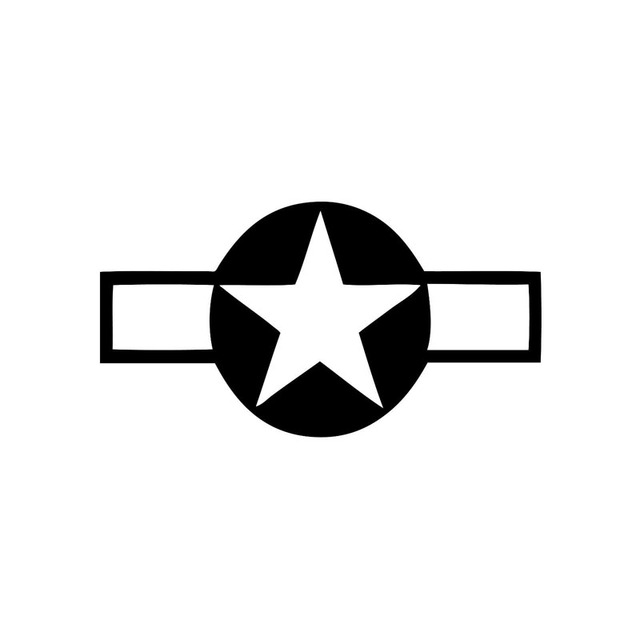13.2cm*7.1cm WW2 Aircraft Star Vinyl Decals Car Stickers Motorcycle Car-styling Accessories S6-3629