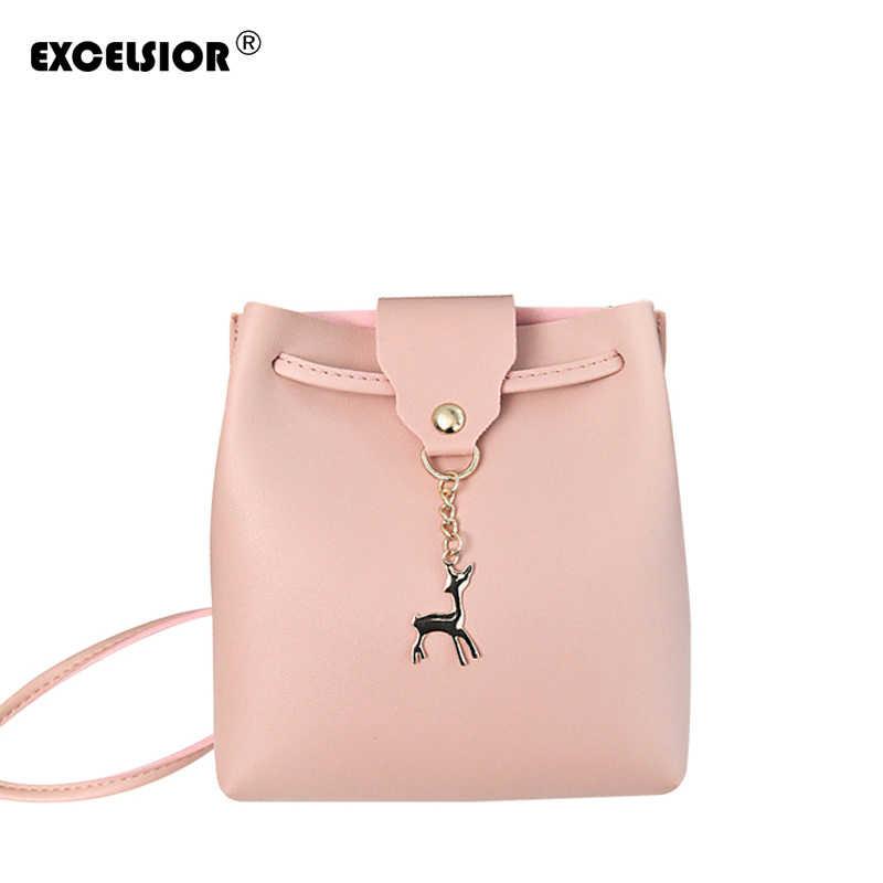 5dbc2ce9504e EXCELSIOR стильный мини-лоскут высокого качества из искусственной кожи женская  сумка модная дамская сумка через