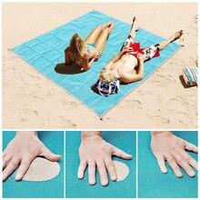 Playa de arena Mat manta portátil Toalla de playa Toalla de la estera de la playa al aire libre arena estera de viaje de verano toallas vacaciones Camping colchón