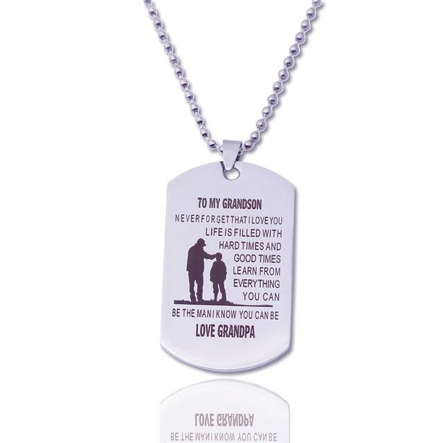 aliexpress com buy personalized dog tags grandpa pendant custom