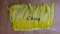 Cking Hackle Coque Feather Fringe 5 Yard Rooster Craft Trim Sewing Costume Millinery 35 40cm/14 16inch 19colors available!