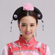 Dinastía han peluca chino antiguo peluca de pelo anime peluca cosplay peluca antiguas desgaste de la cabeza
