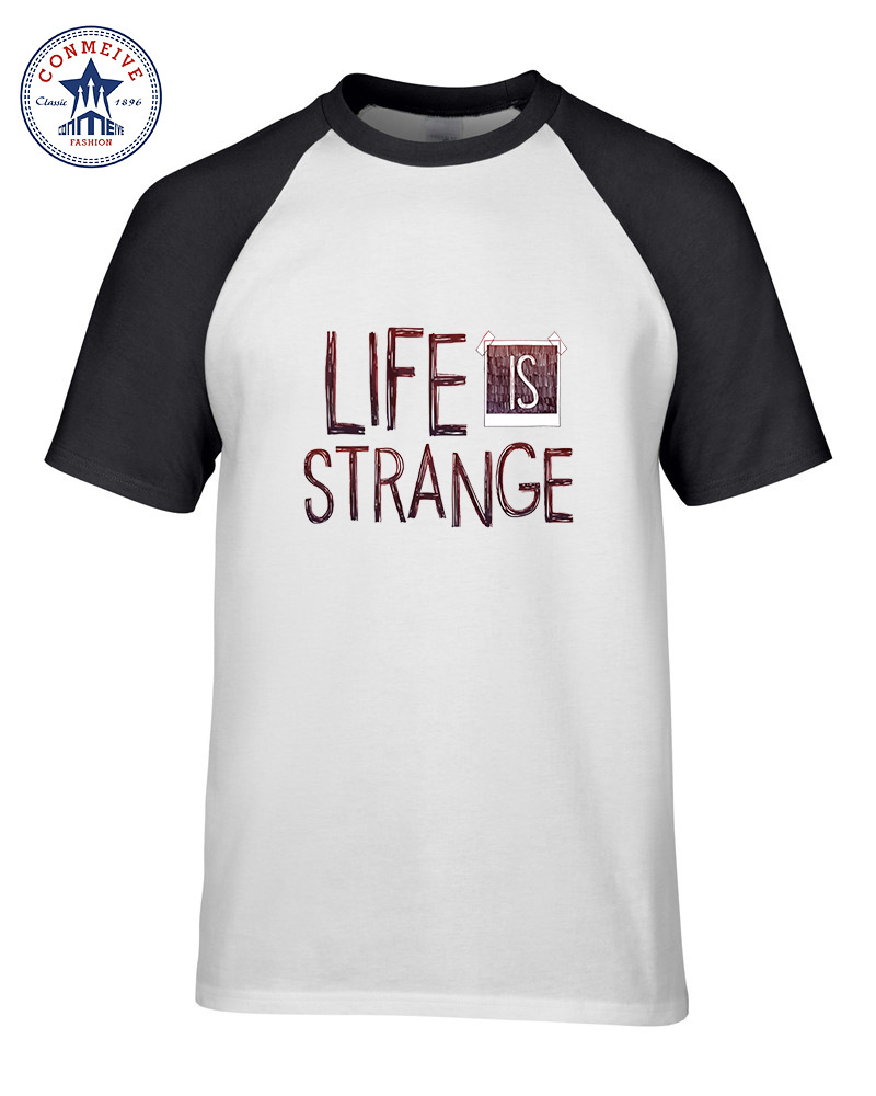 Cotton Short Sleeve Tshirt Hot Sale Mix Color Men Clothes Casual Life Is Strange Print Funny T Shirt Men ...