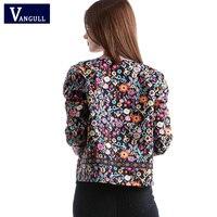 Vangull 2018 New Spring Botanical Jacket Autumn Basic Jacket for Women Multicolor Collarless Elegant Jackets and Coats Feminina 4