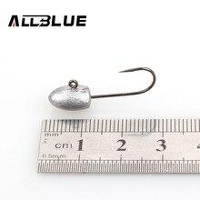 ALLBLUE Exposed Lead Jig Head 3g Barbed Hook 10pcs/lot Soft Lure Jigging Hook Fishing Hooks Fishing Tackle