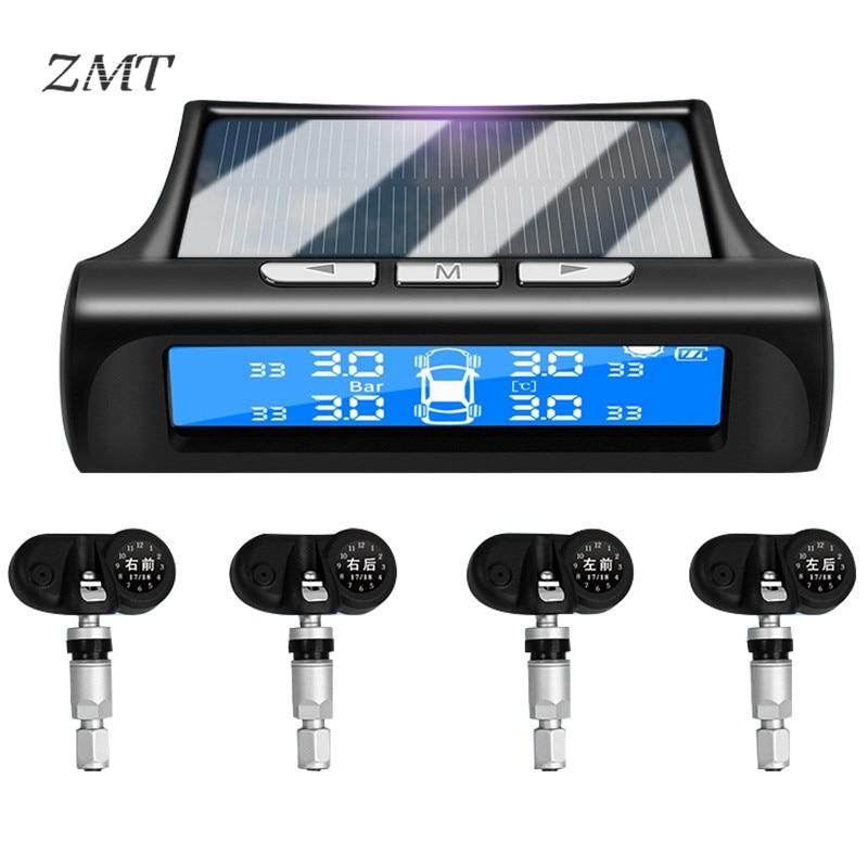 Système de surveillance de capteur de pression des pneus de sécurité de voiture capteur intégré solaire sans fil TPMS détecteur de pression des pneus universel T88BJB