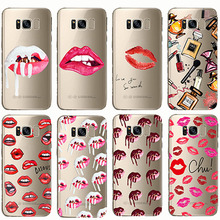 Cartoon Kylie Jenner Sexy Girl lips lipstick kiss soft phone case cover for Samsung Note 8 9 S8 S9 plus S6 S7 edge C7 2017 C5