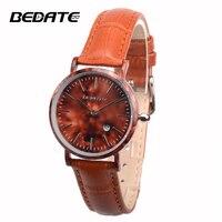 BEDATE Leather strap women wristwatch Quartz watch women watches Creative personality watch relogio feminino ZS W1059AL