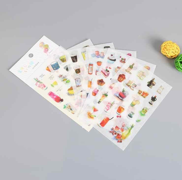 6 шт. бумажный органайзер для стикеров дневник с календарем наклейка
