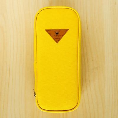 Канцелярские принадлежности для девочек, оксфордская сумка для ручек, Студенческая детская призовая школа, чехол для карандашей, футляр, чехол для карандашей, школьные принадлежности, подарок для детей на год и Рождество - Цвет: Yellow