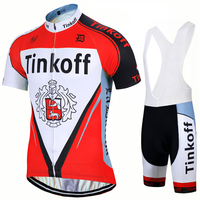Factory Direct Sales! SaxoBank Tinkoff Cycling Jerseys suit Cycling clothing Quick Dry Cycling Breathable Cycling sportswear 9D