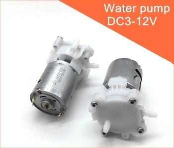 RS-360SH biegów pompa wody dc silnik 3V 6V 12V CW/CCW oleju samozasysająca pompa wodna, DIY akwarium Bonsai rockery chłodzenie notebooka