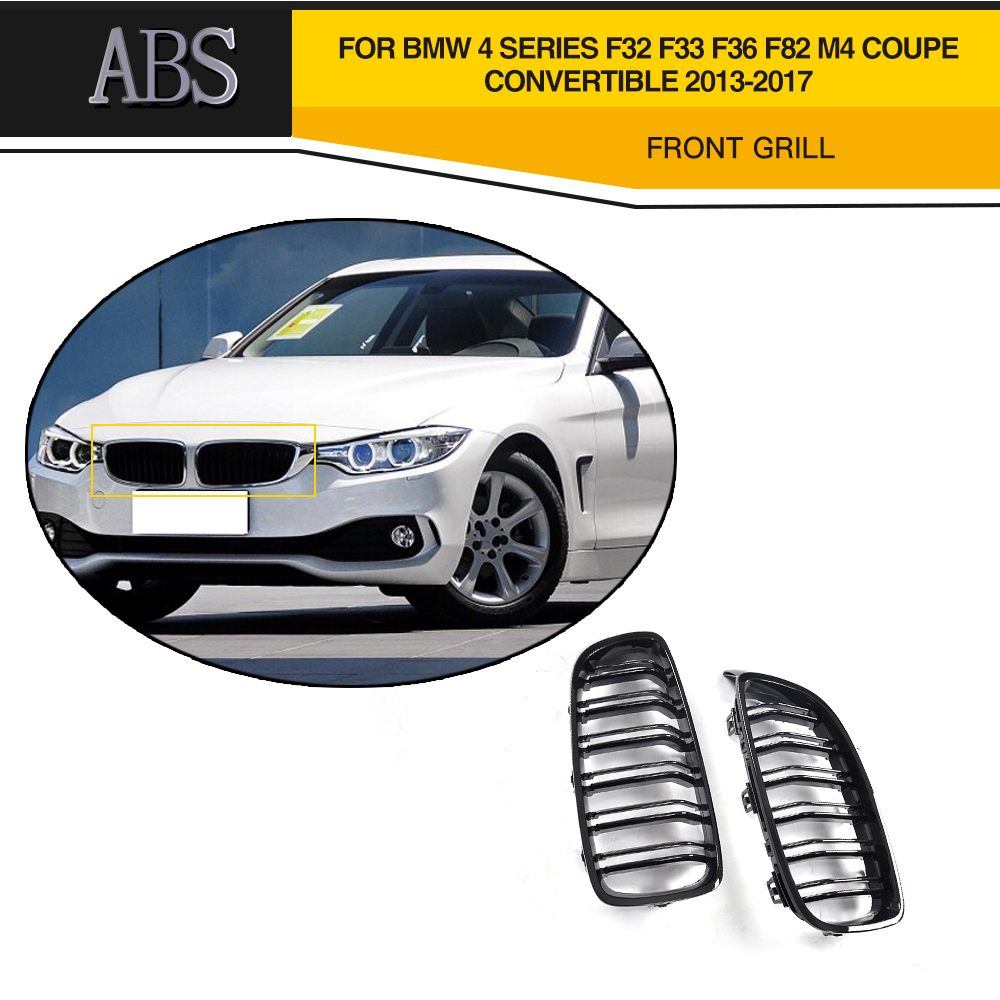 4 Series ABS Car Front Grill Grille For BMW F32 Grill F33 F36 F82 F80 M3 M4 Grille Coupe Convertible 2013-2017