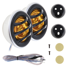 2pcs 150W 066 Car Horn Dome Tweeter Car Speaker Audio Auto Loudspeaker Car Stereo Treble Speaker for Cars Vehicle Automates aiyima 1pc 4inch audio portable speaker 8ohm 80w tweeter loudspeaker diy stage speaker horn treble home theater