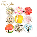 10PCS Trees Glass Cabochon 20mm 3D Cameo Flatback Scrapbooking Dome Cabochons Diy Craft Jewelry