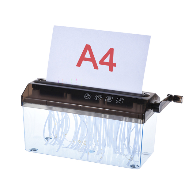 A4 9 Shredder Paper Office Mini Manual Hand Shredders Doent File