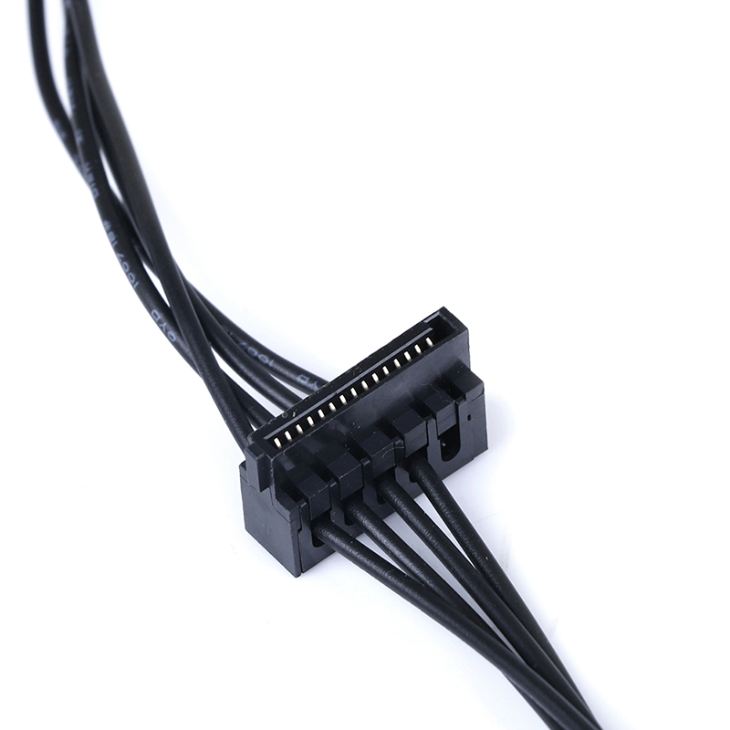 1Pc 45CM mini 4 Pin to 2 Sata SSD power supply cable for lenovo M410 M610 Hw