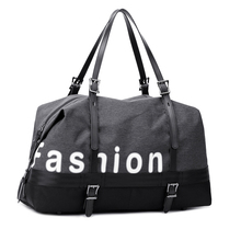 Single handed short travel bag, male and female sports fitness satchel with independent shoe positions.