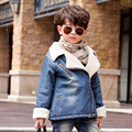 Winter Jacket For Boys Thick Cashmere Children Denim Jacket Coat 2-6 Years Kids Outerwear & Coats Baby Boys Parka Infant Clothes